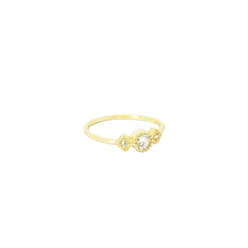 anillo cristales boho oro