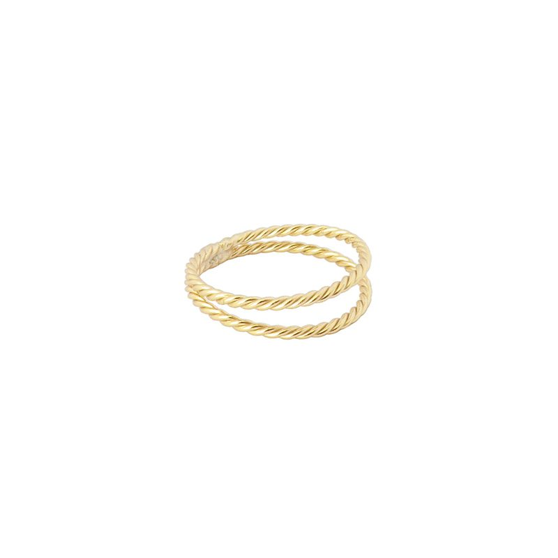 anillo twist doble