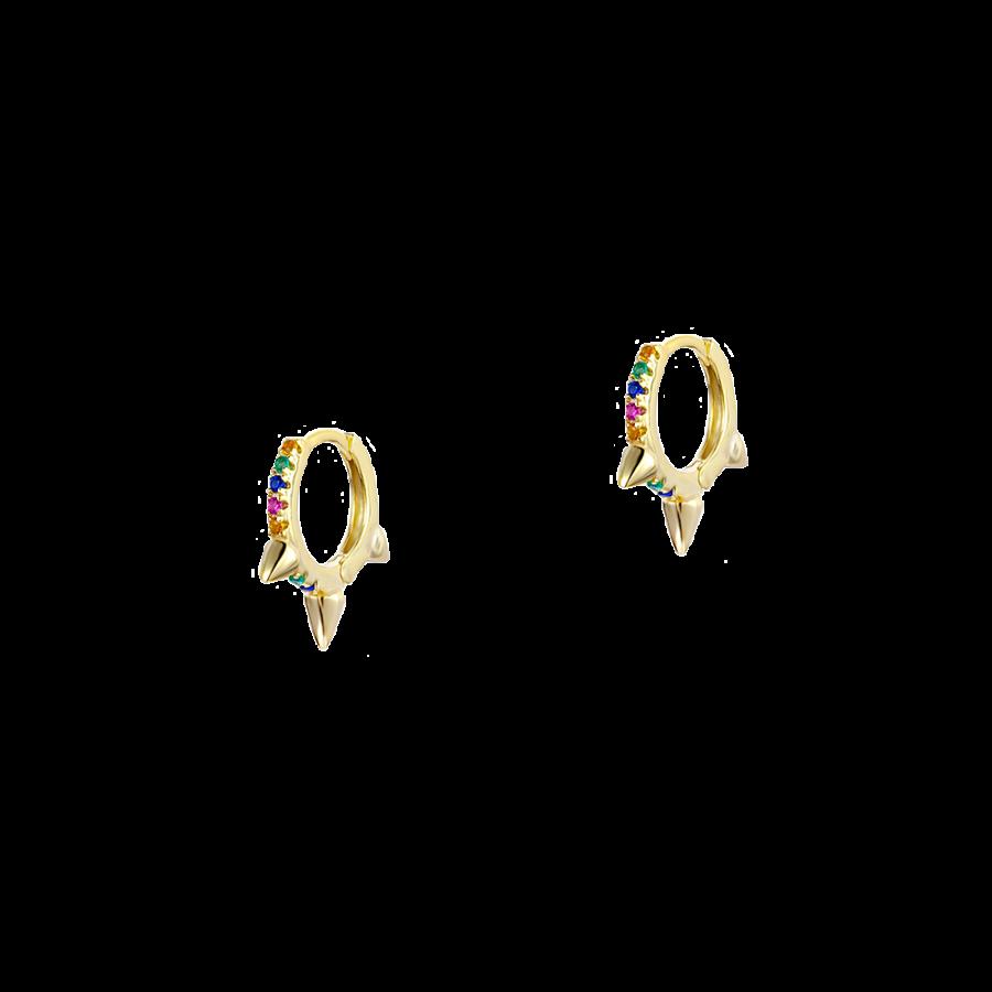 Pendientes de aron con cristales de colores