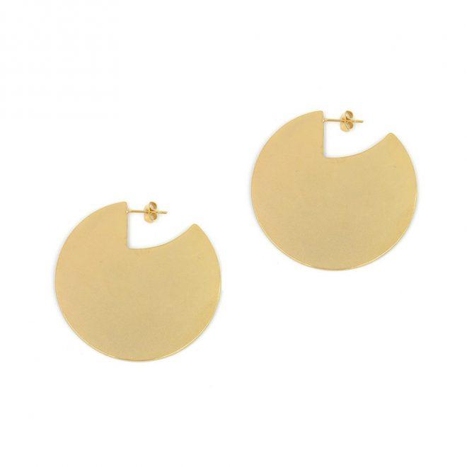 pendiente de diseño maxi en dorado