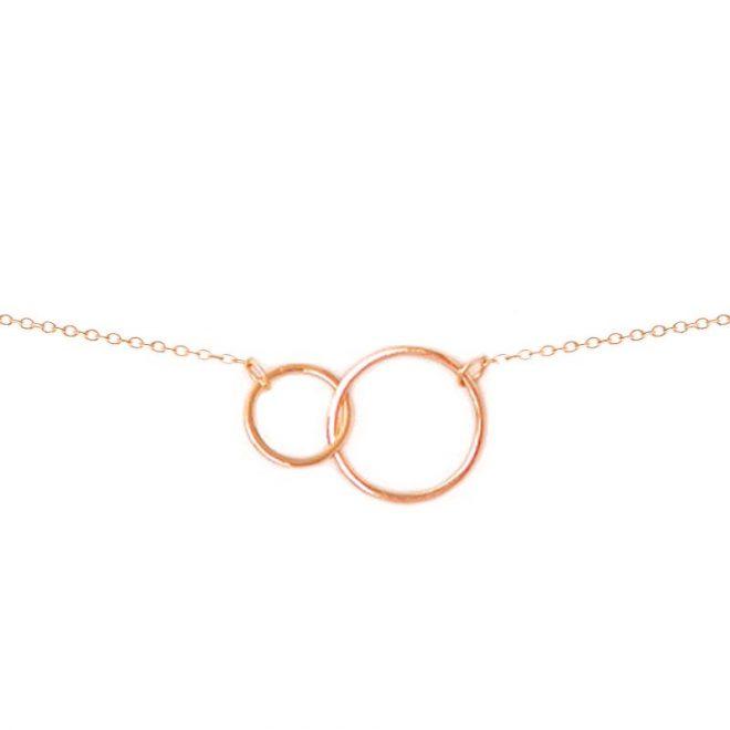 Colgante círculos oro rosa