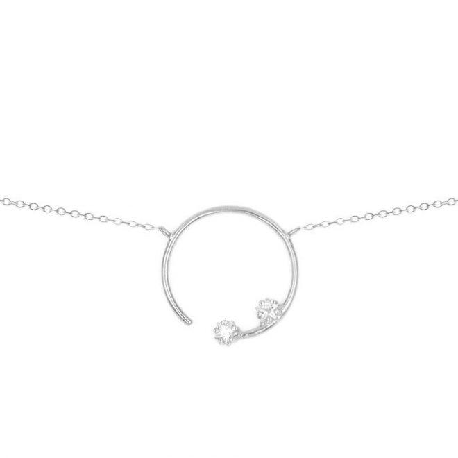 colgante glow, colgante constelación con circonitas en plata