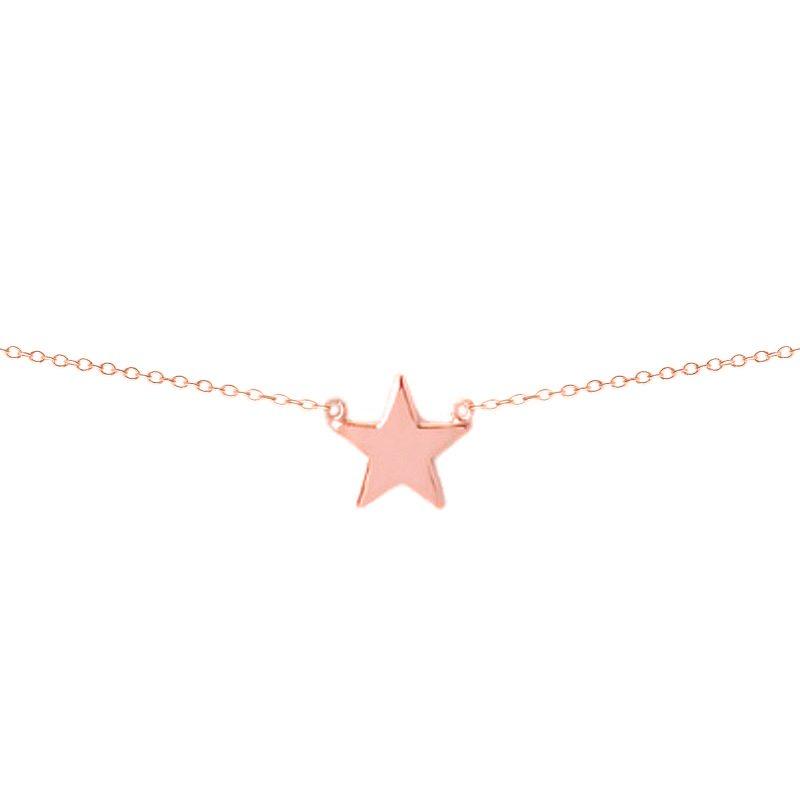 Colgante estrella oro rosa