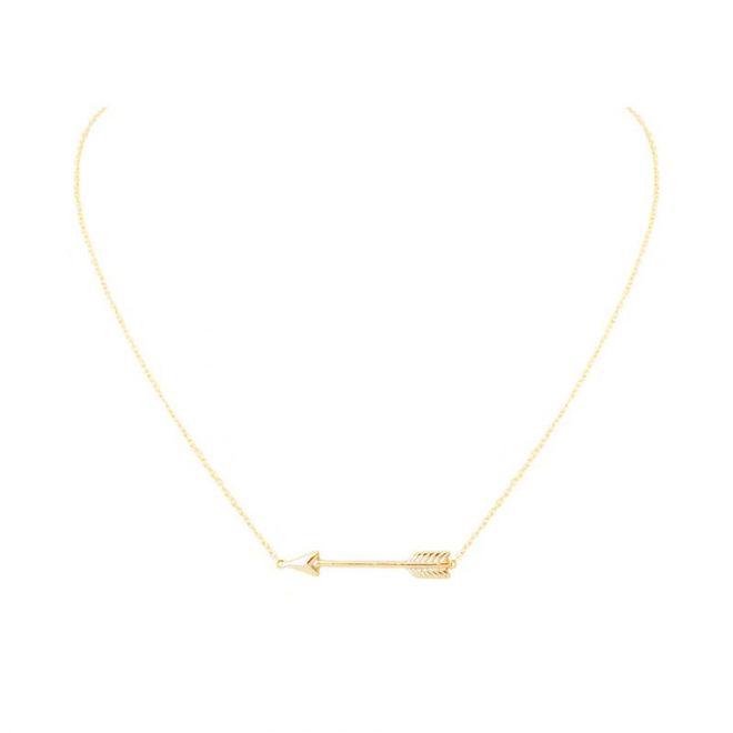colgante flecha oro