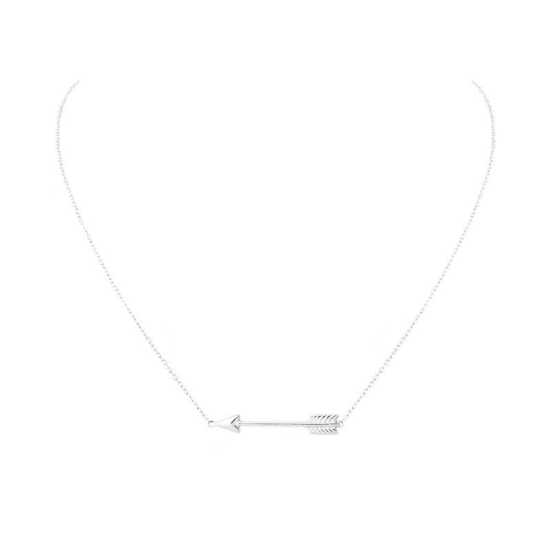 comprar collar flecha plata