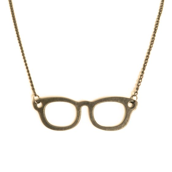 colgante gafas nerd