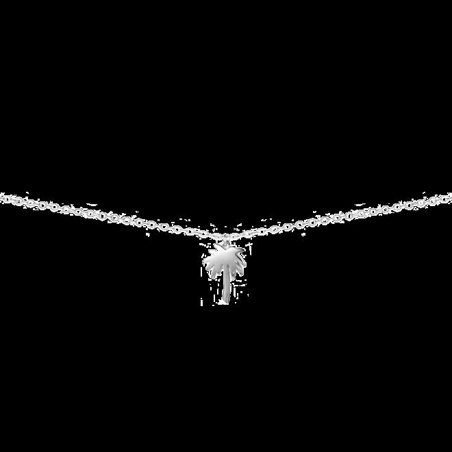 Collar con colgante en forma de palmera en plata 925