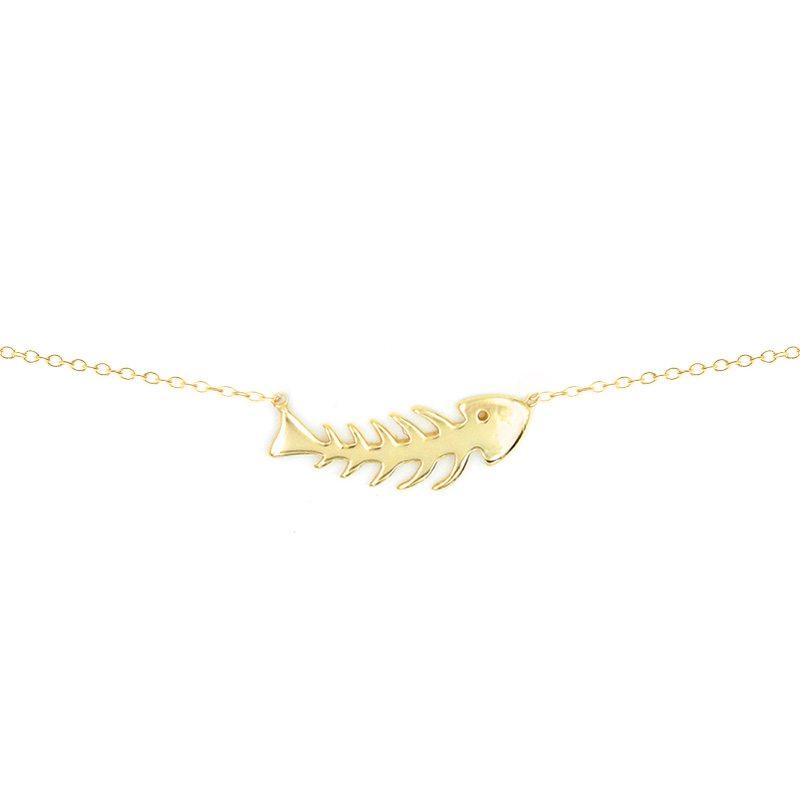 colgante pez raspa oro
