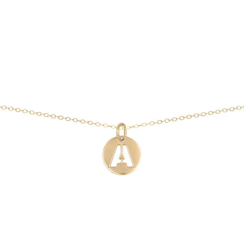 collar oro letra