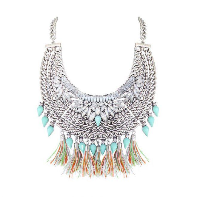 comprar collar cristales y borlas