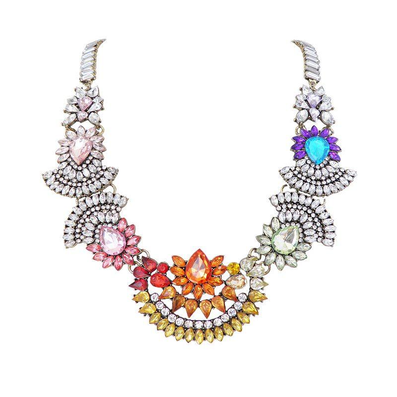 comprar collar cristales multicolor