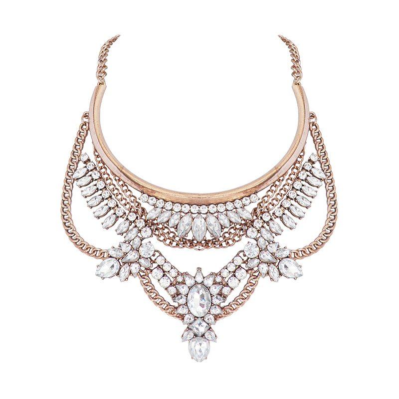 collar cristales y cadenas