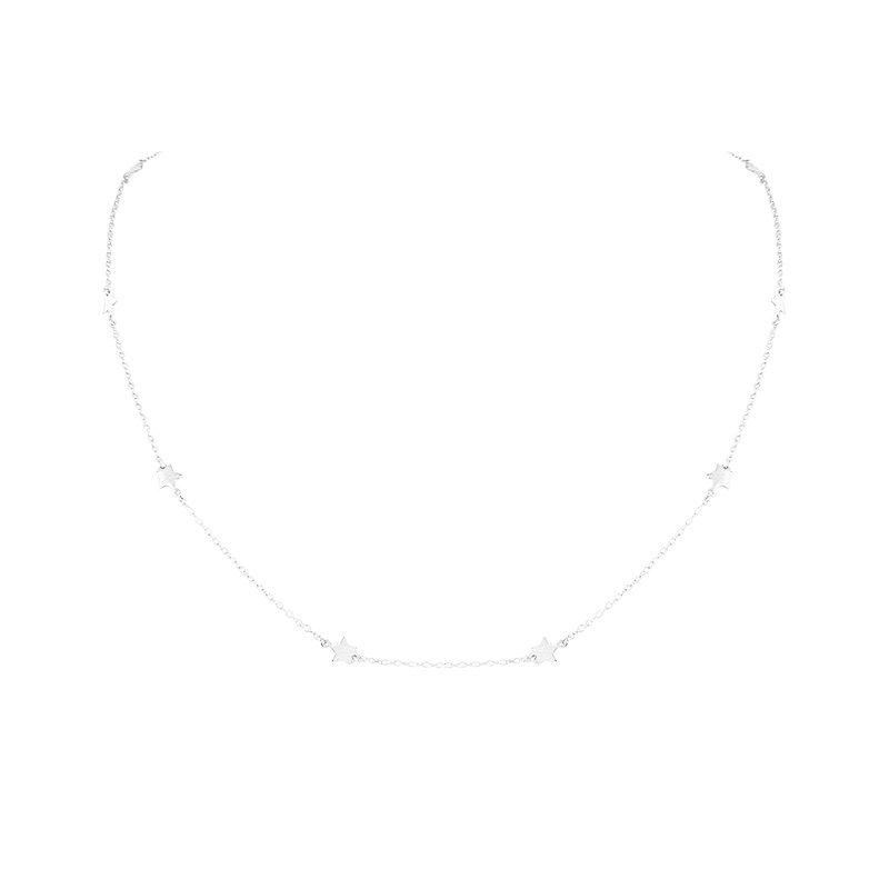 collar estrellitas plata