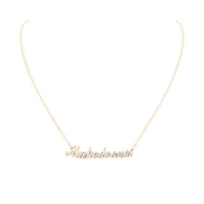 collar personalizado oro
