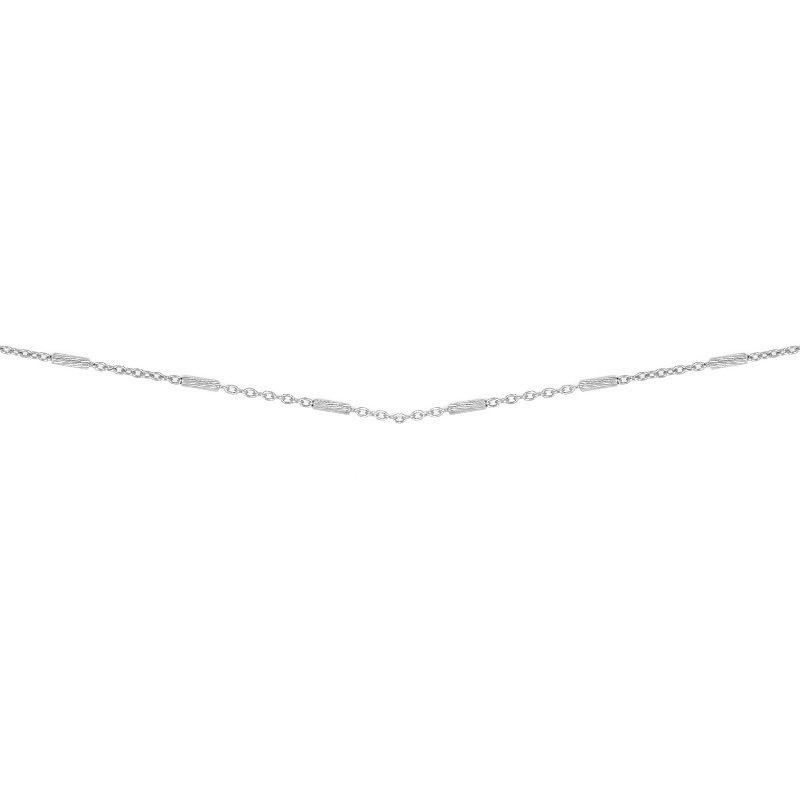 cadena barritas plata, collar de palitos