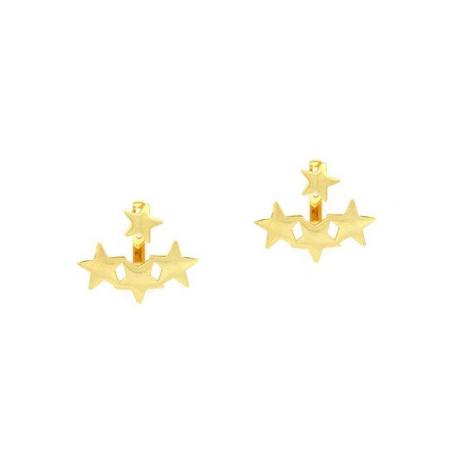 Ear jackets estrellas