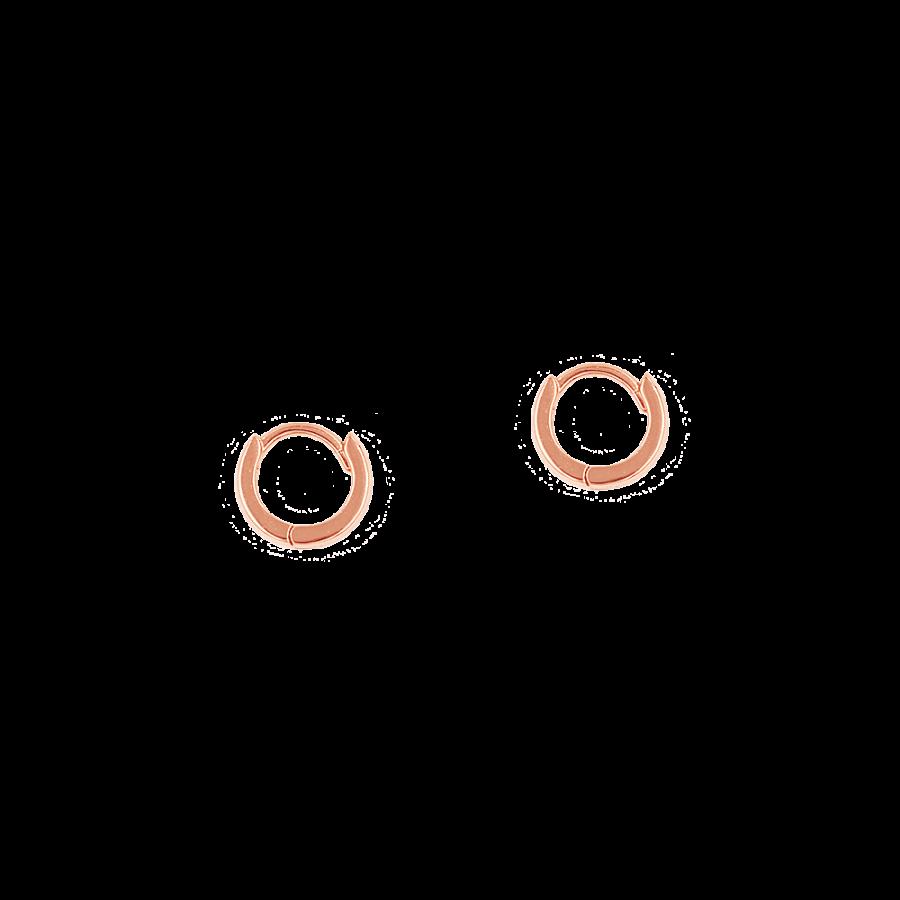 Pendientes de aro pequeños bañados en oro rosa