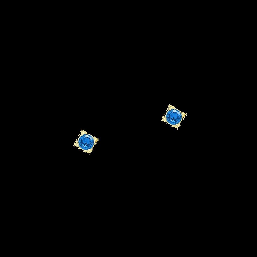 Pendientes de plata con piedra azul klein