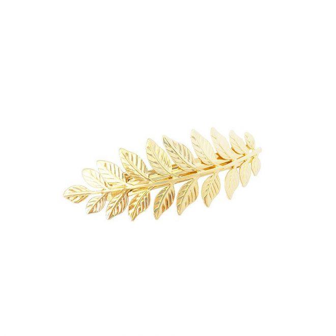 pasador hojas para el pelo color dorado