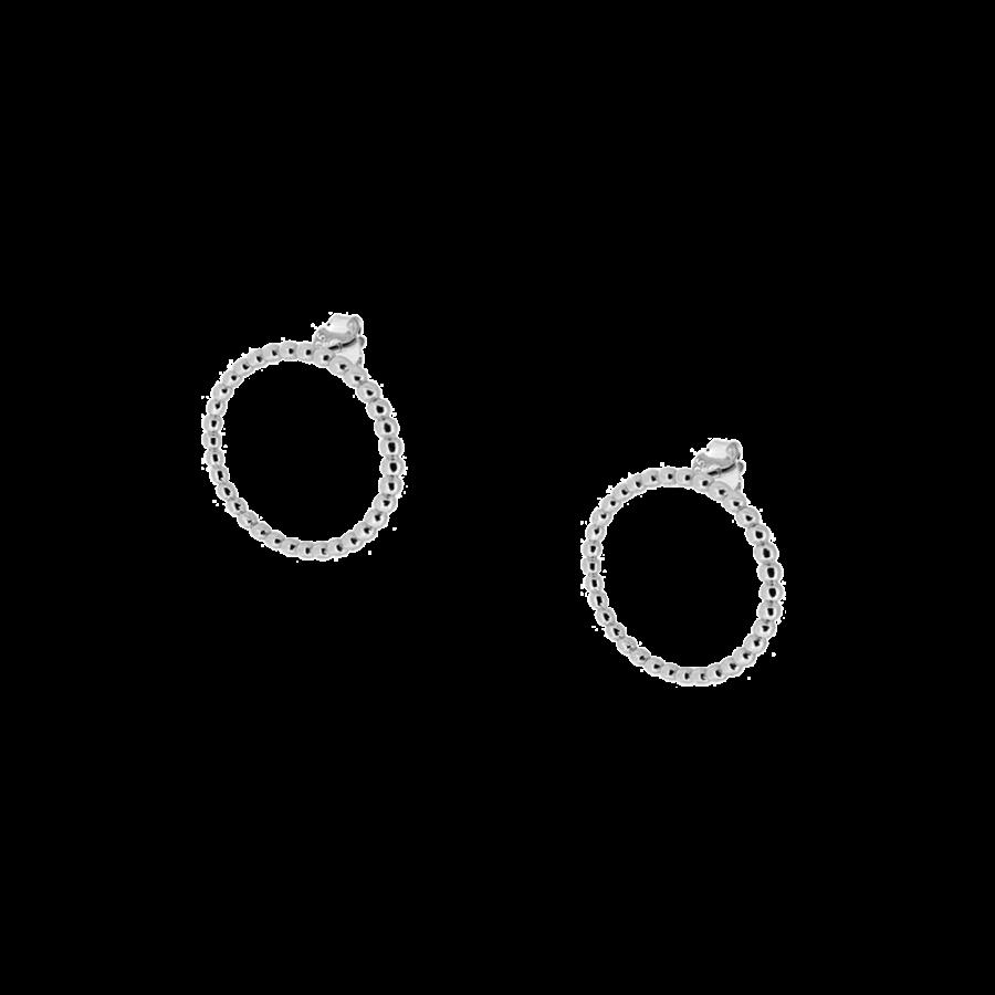 Pendientes de aro frontal de 22mm en plata de ley