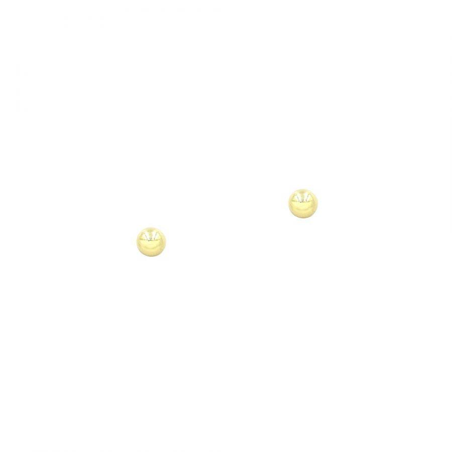 Pendientes bola dormilona en oro de 4mm