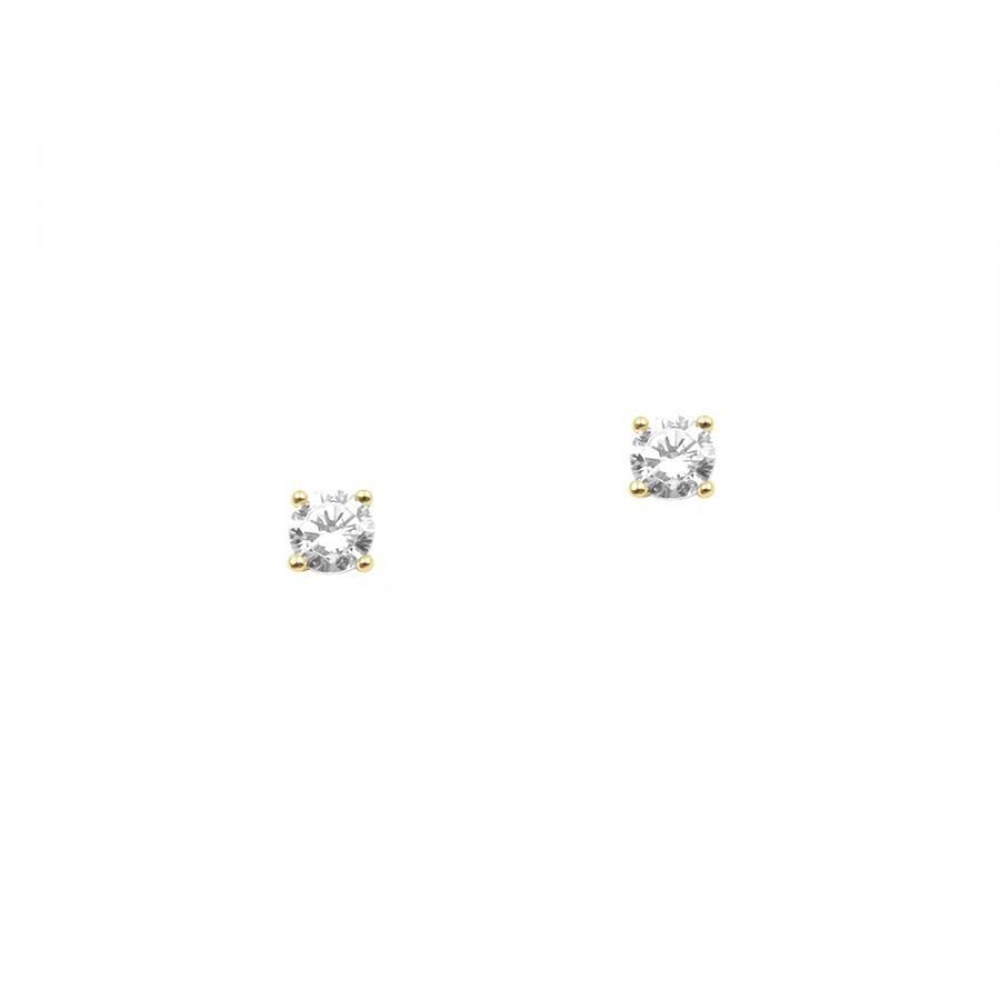 pendientes mini con circonita blanca