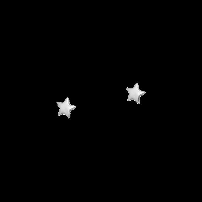 pendientes mini estrella plata