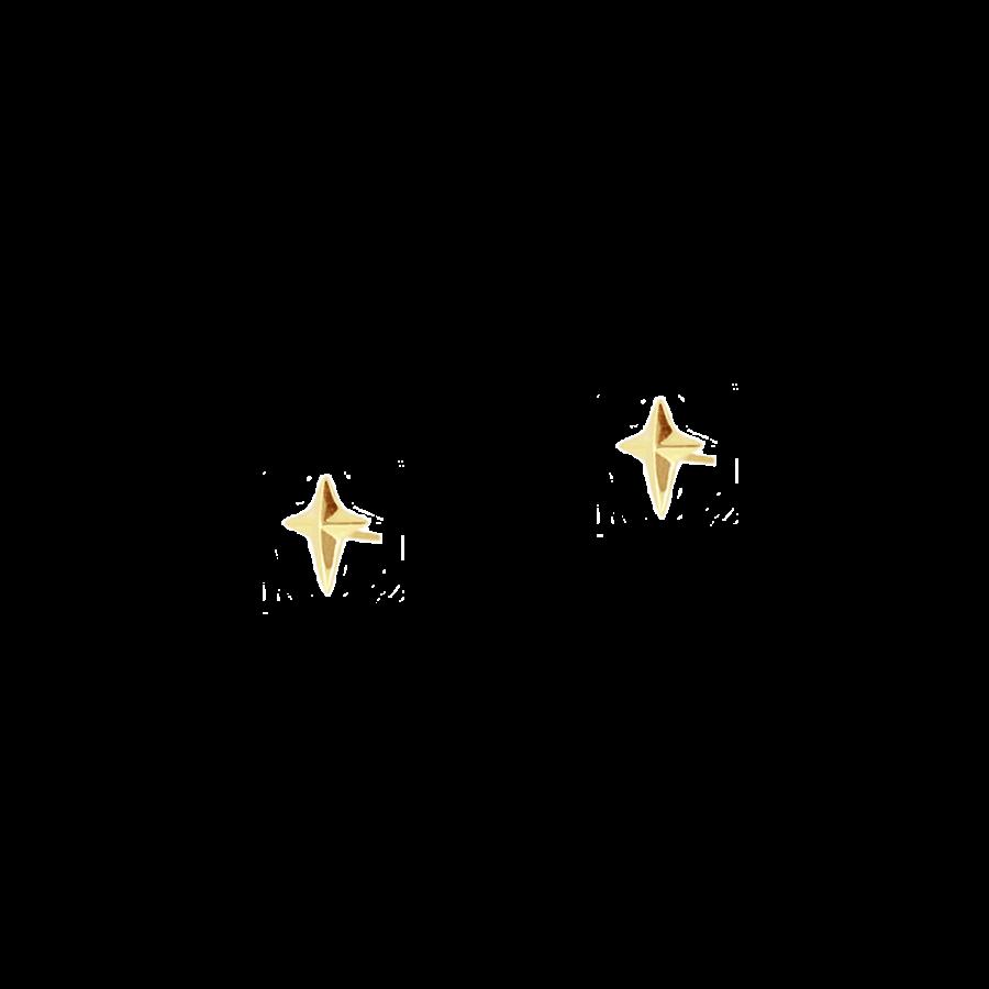 Pendientes estilo botón o mini con diseño de estrella o cruz