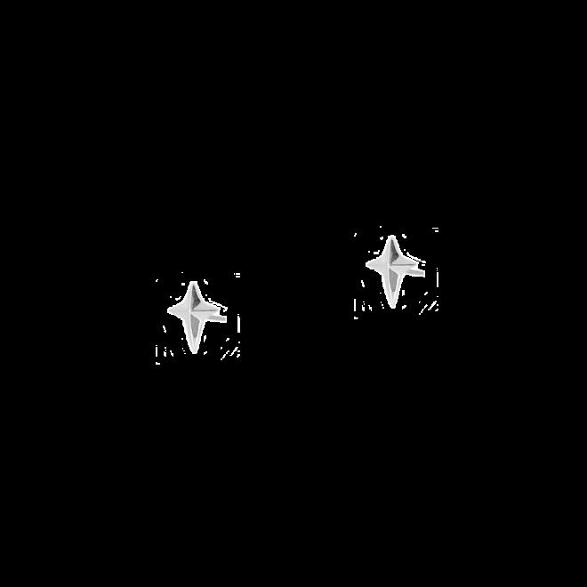 Pendientes estilo mini con diseño de estrella o cruz pequeña