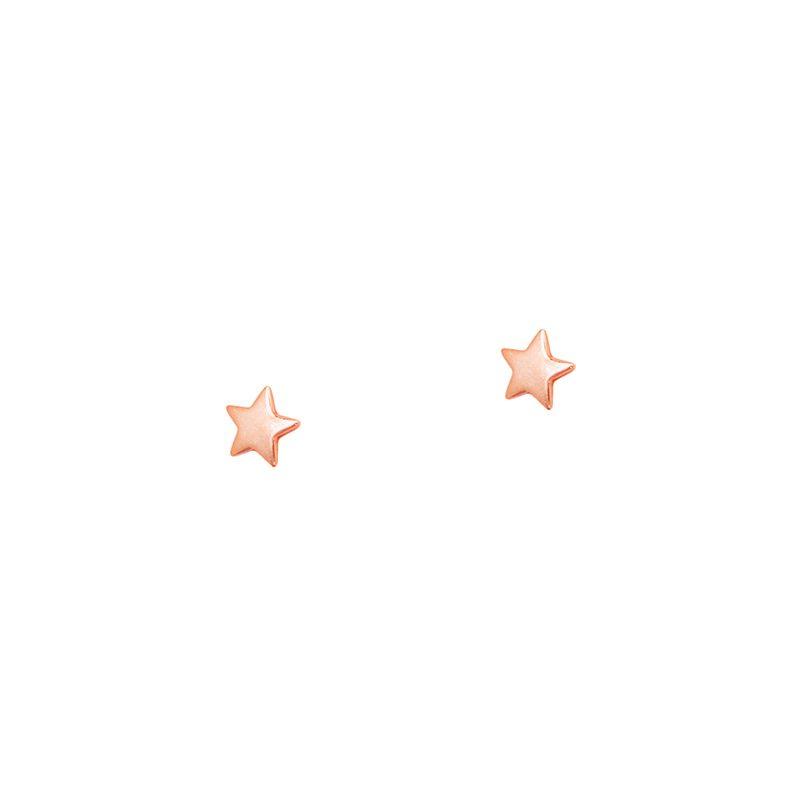 Pendientes estrellita en oro rosa