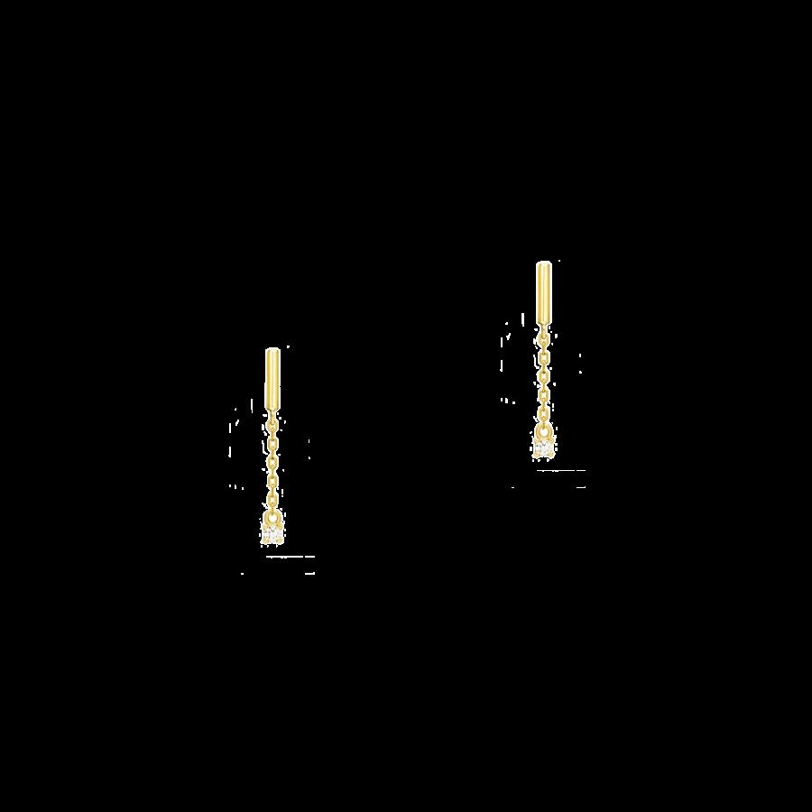 Pendientes largos con diseño minimalista