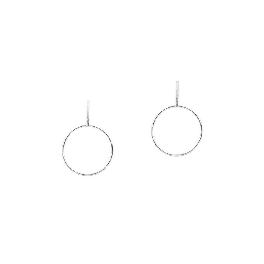 Pendientes geométricos en plata de ley