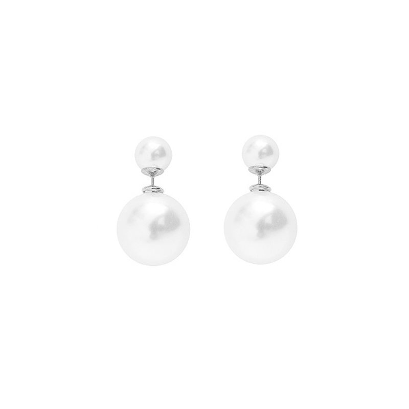 pendientes perlas dobles
