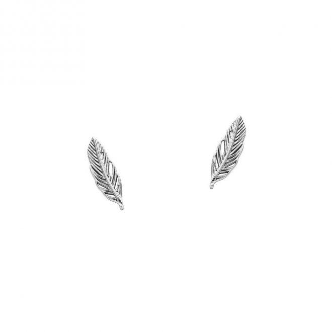 pendientes de pluma en plata de ley