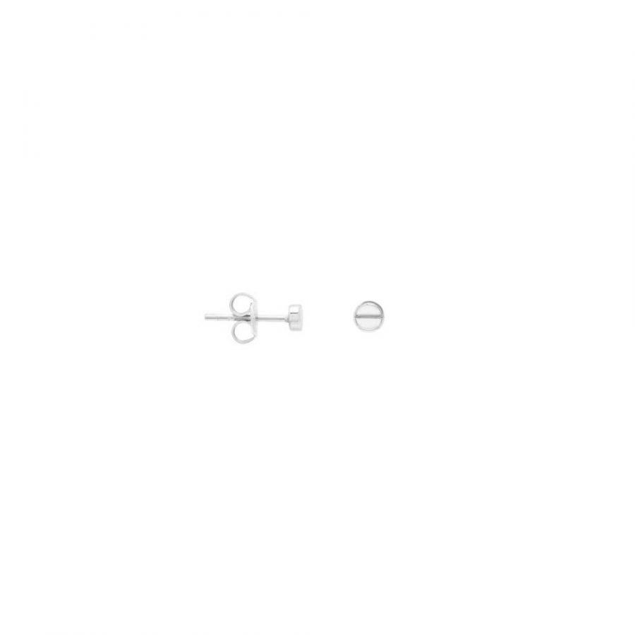 Pendientes mini en forma de tornillo en plata de ley