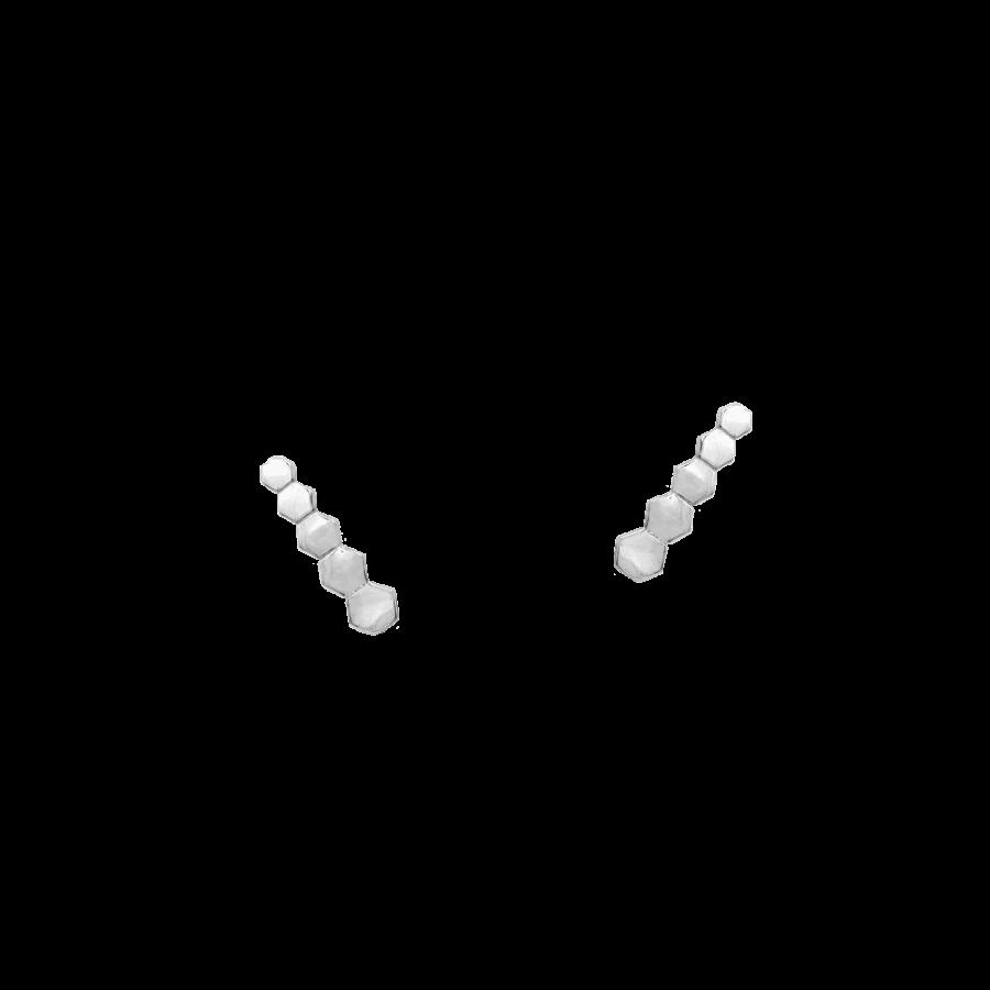 Pendientes trepadores hexagonales