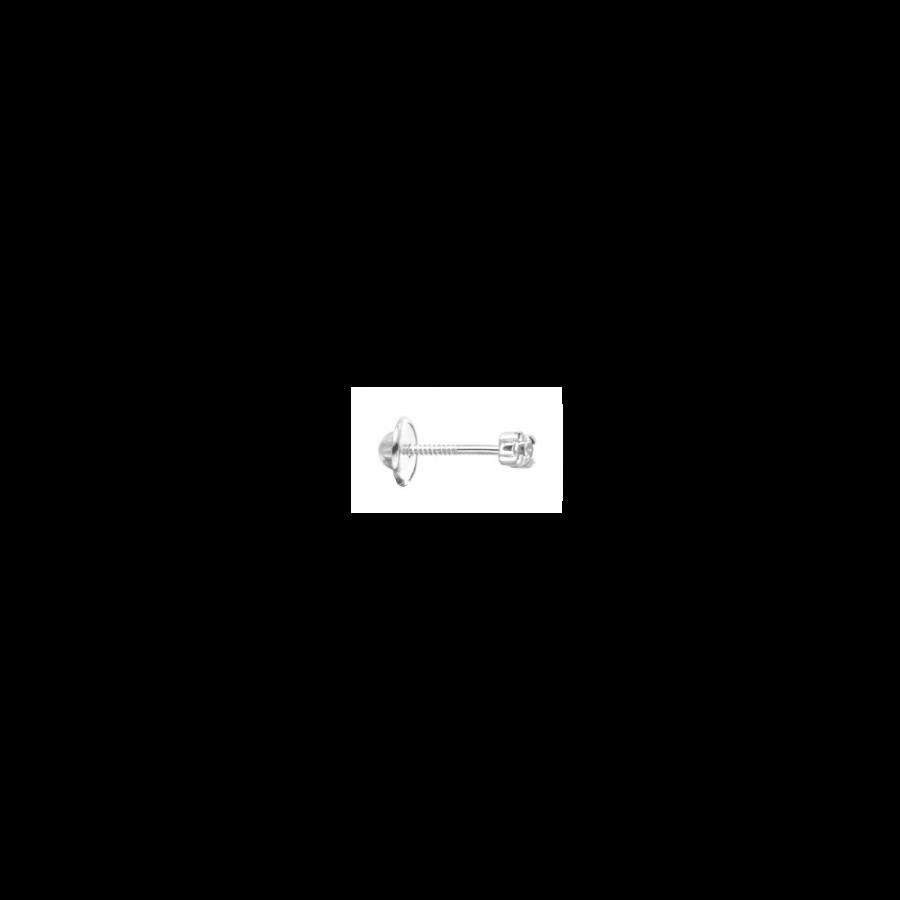 Piercing de circonita de 2mm en plata de ley