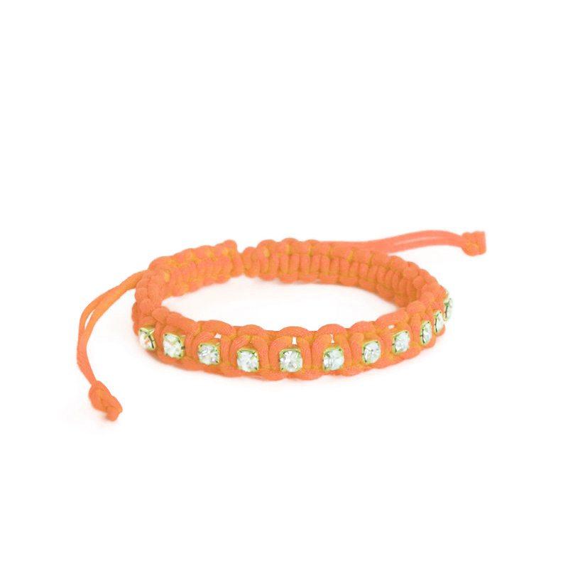 pulsera neon naranja