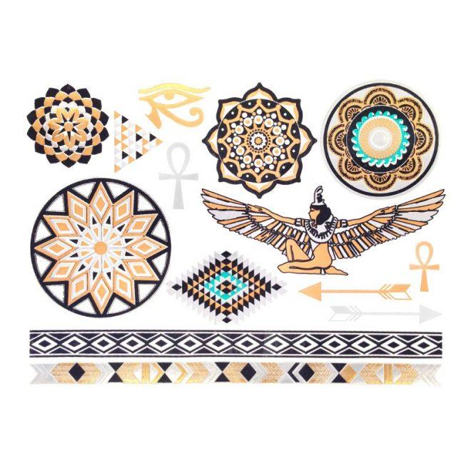 tatuajes dorados egipcios rihanna