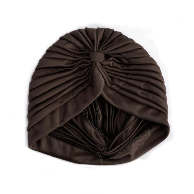 turbante marrón chocolate